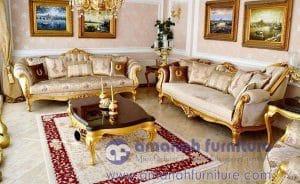 Set Kursi Tamu Ukir Mewah Persia Gold