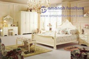 Furniture Kamar Set Mahohara Ukir Mewah