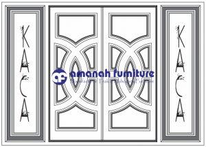 Jual Pintu Rumah Kayu Jati Model Kupu-kupu Silang