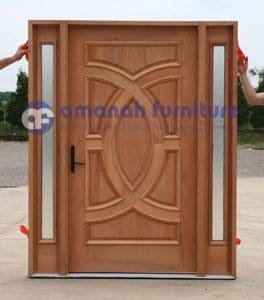 Jual Daun Pintu Rumah Jati Model Kupu Tarung