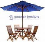 Meja Payung Taman, Kolam Renang, dan Cafe Jati Segi Delapan