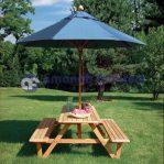 Kursi Taman Payung Model Bangku Lipat