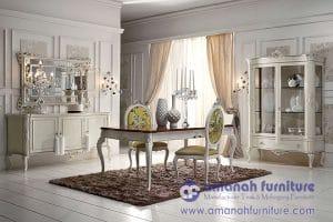 Set Meja Makan Klasik Mewah Eropa