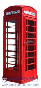 Lemari Hias Box Telephone Merah London Inggris