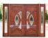 Pintu Rumah Jati Kupu-kupu Tarung