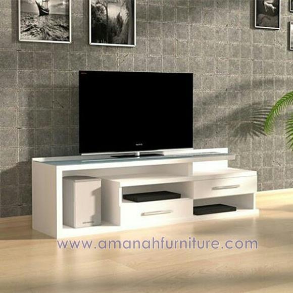 Meja Tv Minimalis Moderen Duco Putih