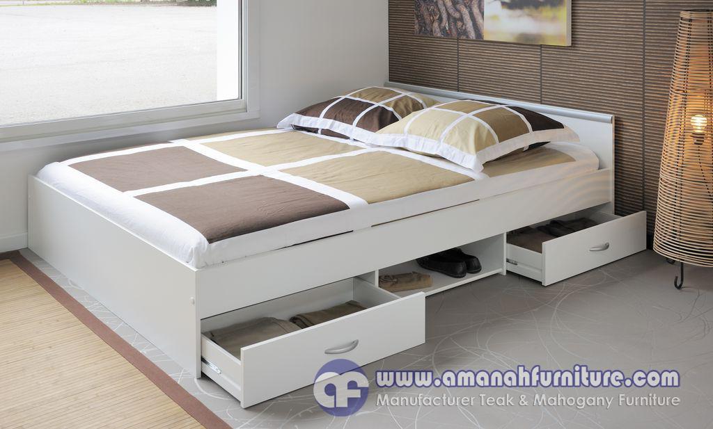 Jual Tempat Tidur Minimalis Moderen Plus Laci Terbaru