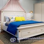 Jual 1 Set Tempat Tidur Mewah Putih