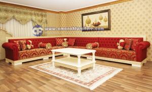 Sofa Tamu L Sudut Mewah Maroko Minimalis Klasik