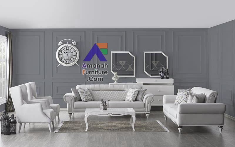 Sofa mewah warna putih