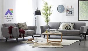 Sofa Tamu Minimalis Retro Dalton Polos Scandinavian