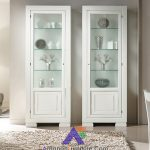 lemari pajangan minimalis putih