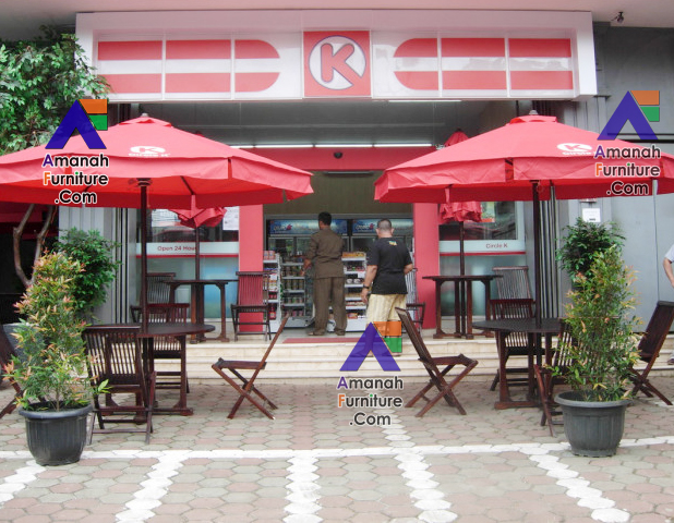 Jual Meja Taman Payung Stand