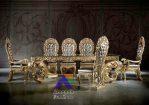 Meja Makan Mewah Royal Cleopatra Jati Jepara