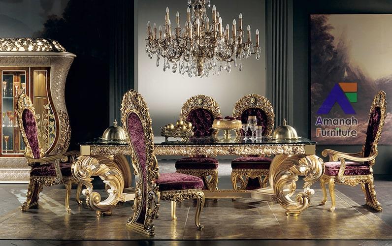 meja makan mewah royal