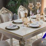 Meja Makan Mewah Putih Cassandra