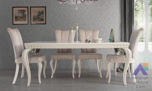 Meja Makan Mewah Istana Sultan 4 Kursi Polosan